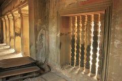 Το εσωτερικό του ναού Angkor Wat, Siem συγκεντρώνει, Καμπότζη Στοκ Φωτογραφίες