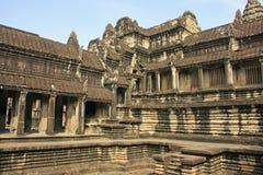 Το εσωτερικό του ναού Angkor Wat, Siem συγκεντρώνει, Καμπότζη Στοκ Εικόνες