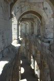Το εσωτερικό του Arles Coliseum Στοκ Φωτογραφίες