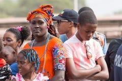 Το ετήσιο καρναβάλι στο κεφάλαιο στο Πράσινο Ακρωτήριο, Praia Στοκ Εικόνες