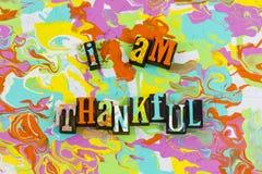 Το AM ευγνώμον δίνει τις ευχαριστίες ελεύθερη απεικόνιση δικαιώματος