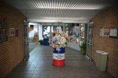 Το ευπρόσδεκτο κέντρο του Τέξας Texarkana φορά ` τ βρωμίζει με την επίδειξη του Τέξας στοκ εικόνες με δικαίωμα ελεύθερης χρήσης