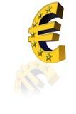 Το ευρο- σύμβολο Στοκ Φωτογραφία