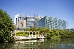 Το Ευρωπαϊκό Κοινοβούλιο, Στρασβούργο, Γαλλία στοκ εικόνες