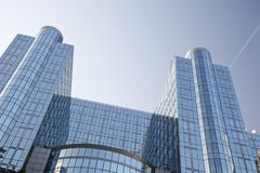 το Ευρωπαϊκό Κοινοβούλιο των Βρυξελλών στοκ εικόνες