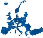 Το ευρωπαϊκό ΝΑΤΟ διανυσματική απεικόνιση