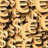 το ευρώ δολαρίων το σύμβολο Στοκ εικόνες με δικαίωμα ελεύθερης χρήσης