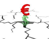 το ευρώ κερδίζει Στοκ Εικόνα