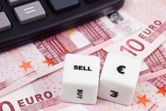 το ευρώ πωλεί Στοκ εικόνες με δικαίωμα ελεύθερης χρήσης