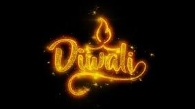 Το ευτυχές κείμενο φεστιβάλ dipawali Diwali με να λάμψει ακτινοβολεί χρυσά μόρια 1 απεικόνιση αποθεμάτων