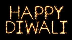 Το ευτυχές κείμενο Sparkler Diwali ακτινοβολεί ζωτικότητα βρόχων πυροτεχνημάτων σπινθήρων ελεύθερη απεικόνιση δικαιώματος