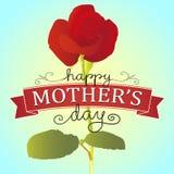 Το ευτυχές κόκκινο μητέρων αυξήθηκε Στοκ Εικόνες