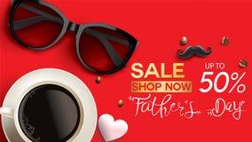 Το ευτυχές σχέδιο ημέρας Father's με την έννοια διασκέδασης και η κρητιδογραφία χρωματίζουν για το υπόβαθρο εμβλημάτων πώλησης