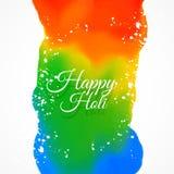 Το ευτυχές holi χρωματίζει το διανυσματικό σχέδιο Στοκ εικόνες με δικαίωμα ελεύθερης χρήσης