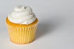 Φασόλι βανίλιας Cupcake Στοκ Εικόνες