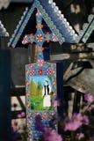 Το εύθυμο νεκροταφείο είναι ένα νεκροταφείο στο χωριό SăpânÈ› α, MaramureÅŸ νομός, Ρουμανία Στοκ εικόνες με δικαίωμα ελεύθερης χρήσης