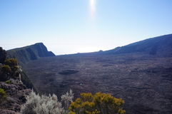 Το ελαφρύ Λα Piton de ηφαιστείων ήλιων Στοκ φωτογραφίες με δικαίωμα ελεύθερης χρήσης