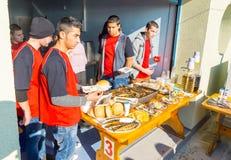 Το ελεύθερο ψάρι μεταχειρίζεται στο φεστιβάλ του Άγιου Βασίλη σε Pomorie, Βουλγαρία Στοκ εικόνα με δικαίωμα ελεύθερης χρήσης