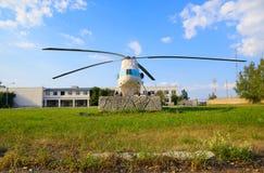 Το ελικόπτερο είναι ένα σύμβολο του αερολιμένα Uktus Στοκ εικόνες με δικαίωμα ελεύθερης χρήσης
