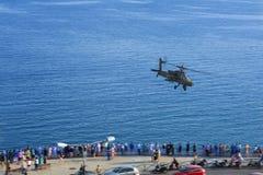 Το ελικόπτερο Apache παρουσιάζει στοκ φωτογραφίες με δικαίωμα ελεύθερης χρήσης