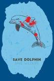 το δελφίνι σώζει εκτός από την άγρια φύση Στοκ Εικόνα