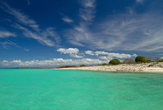 Το ζαλίζοντας Bahia de las Aguilas στη Δομινικανή Δημοκρατία Στοκ Εικόνα