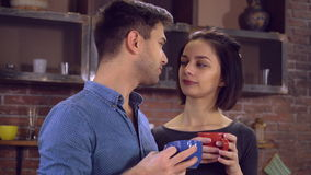 Το ζευγάρι ερωτευμένο περνά το ελεύθερο χρόνο στο επίπεδο απόθεμα βίντεο