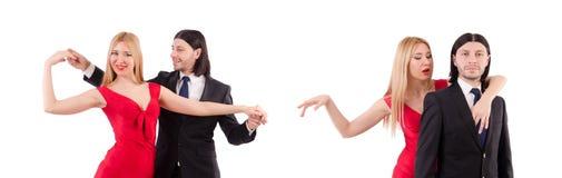 Το ζευγάρι που απομονώνεται στο άσπρο υπόβαθρο στοκ εικόνες