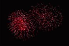 Το ζουμ στα πυροτεχνήματα παρουσιάζει Στοκ Φωτογραφίες
