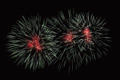 Το ζουμ στα πυροτεχνήματα παρουσιάζει Στοκ φωτογραφία με δικαίωμα ελεύθερης χρήσης