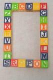 Το ζωηρόχρωμο αλφάβητο εμποδίζει το Α στο Ζ στοκ εικόνες με δικαίωμα ελεύθερης χρήσης