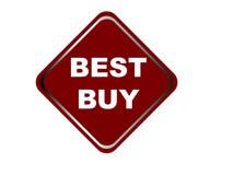 Το ζωηρόχρωμο καλύτερο αγοράζει το άσπρο υπόβαθρο κουμπιών Ιστού Στοκ Εικόνα