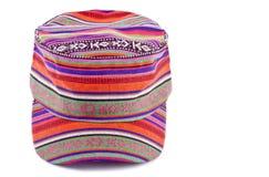 το ζωηρόχρωμο καπέλο 4 απομόνωσε το λευκό Στοκ Εικόνα
