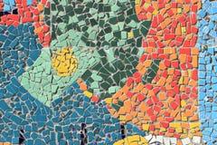 Το ζωηρόχρωμο μωσαϊκό κεραμώνει τον τοίχο Στοκ εικόνα με δικαίωμα ελεύθερης χρήσης