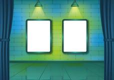 Το ζωηρόχρωμο τούβλο παρουσιάζει δωμάτιο με τα επίκεντρα Στοκ φωτογραφία με δικαίωμα ελεύθερης χρήσης