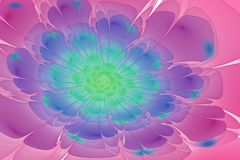 Το ζωηρόχρωμο fractal λουλούδι με λάμπει διανυσματική απεικόνιση