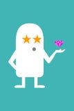 Το ζωντανεψοντα STAR προσωπικότητας Στοκ εικόνες με δικαίωμα ελεύθερης χρήσης