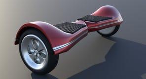 Το ηλεκτρικό μηχανικό δίκυκλο γυροσκοπίων hoverboard απομονώνει άσπρο σε τρισδιάστατο δίνει διανυσματική απεικόνιση