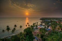 Το ηλιοβασίλεμα από το φάρο Thangaserry στοκ φωτογραφίες με δικαίωμα ελεύθερης χρήσης