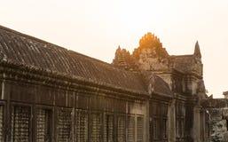 Το ηλιοβασίλεμα στο angkor wat στο siem συγκεντρώνει την Καμπότζη Στοκ εικόνες με δικαίωμα ελεύθερης χρήσης