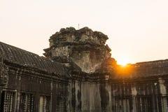Το ηλιοβασίλεμα στο angkor wat στο siem συγκεντρώνει την Καμπότζη Στοκ Φωτογραφίες