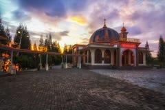 Το ηλιοβασίλεμα του μουσουλμανικού τεμένους στοκ εικόνες