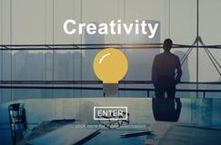Το δημιουργικό εικονίδιο λαμπών φωτός εισάγει την έννοια κουμπιών Στοκ εικόνα με δικαίωμα ελεύθερης χρήσης