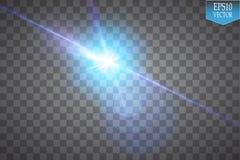 Το δημιουργικό διανυσματικό σύνολο έννοιας αστεριών ελαφριάς επίδρασης πυράκτωσης εκρήγνυται με τα σπινθηρίσματα στο μαύρο υπόβαθ Στοκ Εικόνες