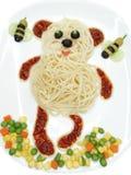 Το δημιουργικό φυτικό γεύμα τροφίμων αντέχει τη μορφή Στοκ Εικόνες