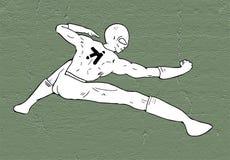 Το δημιουργικό kung fu θέτει Στοκ Εικόνες