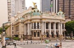 Το δημοτικό θέατρο στο Ρίο ντε Τζανέιρο Στοκ Εικόνες
