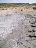 Το ηφαίστειο λάσπης Berca σε Buzau, Ρουμανία Στοκ Εικόνες