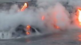 Το ηφαίστειο της Χαβάης απόθεμα βίντεο