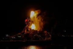 Το ηφαίστειο Cafe τροπικών δασών εκρήγνυται στοκ εικόνες με δικαίωμα ελεύθερης χρήσης